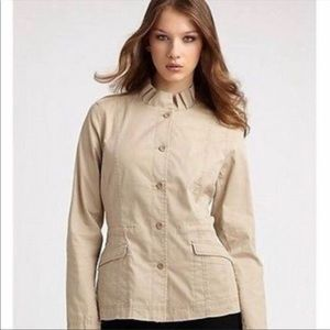 Eileen Fisher Tan Button Up Jacket Size Large